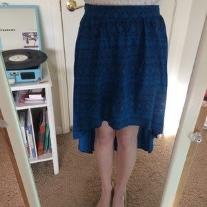 Mossimo Supply Co. Skirts - MOSSIMO SUPPLY CO SKIRT HIGH LOW BLUE  SIZE XL